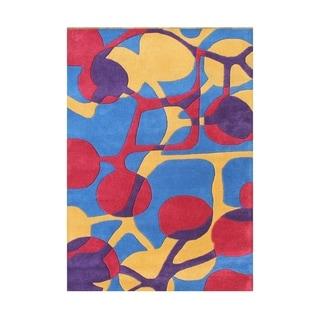 Handmade Alliyah Twilight Purple New Zealand Blend Wool Rug (5' x 8')