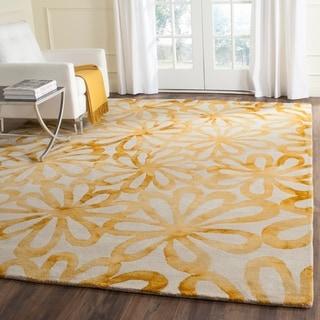 Safavieh Hand-Tufted Dip Dye Beige/ Gold Wool Rug (8' x 10')