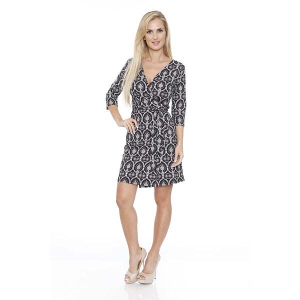 Women's 'Twill Weave' Plaid Print Wrap Dress