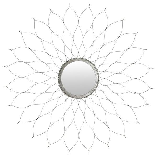 Flower Silver Mirror