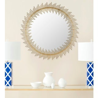 Sunray Circle Antique Gold Mirror
