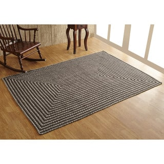 Parquet Tweed Braided Area Rug (5' x 7') by Better Trends