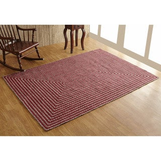Parqueet Tweed Braided Rug (8' x 10') by Better Trends