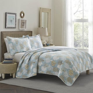 Laura Ashley Pearl Sky Reversible 3-piece Quilt Set