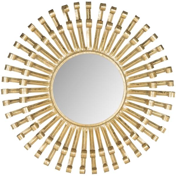 Rayos Sunburst Antique Brass Mirror
