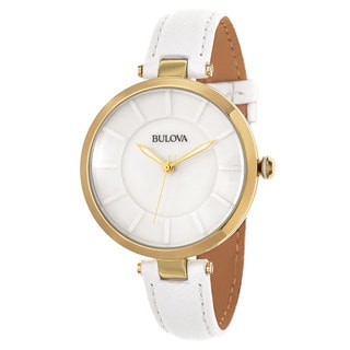 Bulova Women's 'Classic' Stainless Steel Yellow Gold Plated Quartz Watch