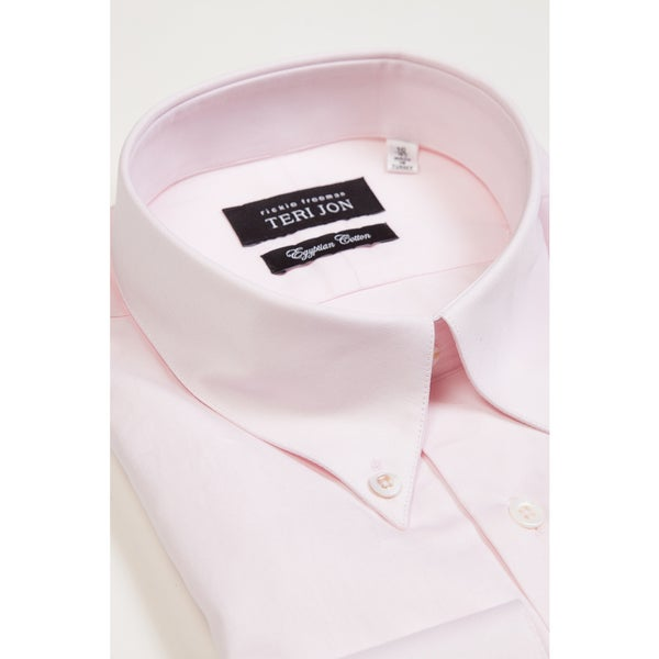 Teri Jon Pour Monsieur Men's Pink Button Collar Dress Shirt