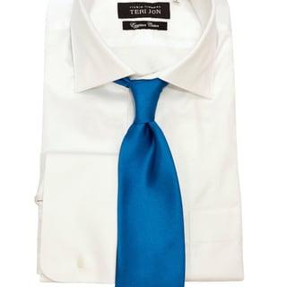 Teri Jon Pour Monsieur Men's 'Lusso' Cerulean Blue Tie