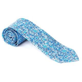 Teri Jon Pour Monsieur Men's 'Alpine' Grey/ Blue/ Pink Tie