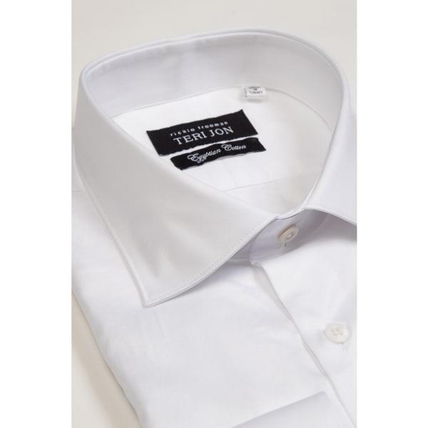 Teri Jon Pour Monsieur Men's White Dress Shirt