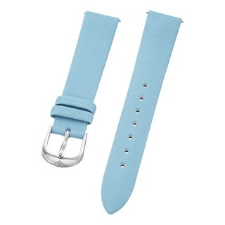 Stuhrling Original Women's Satin Twill Blue Covered Leather Strap