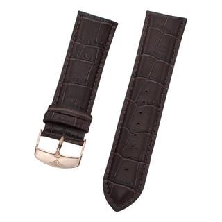 Stuhrling Original Men's Brown Alligator Embossed Leather Strap