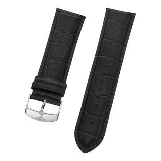 Stuhrling Original Men's Black Alligator Embossed Leather Strap