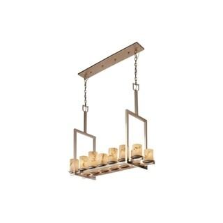 Justice Design Group LumenAria 14-light Nickel Dakota Chandelier