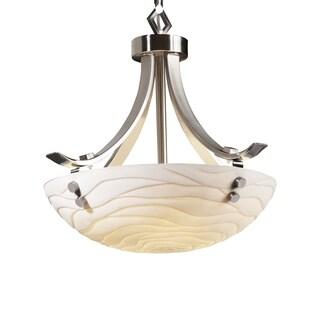 Justice Design Group Porcelina Round 3-light Flat Bars Finial Pendant