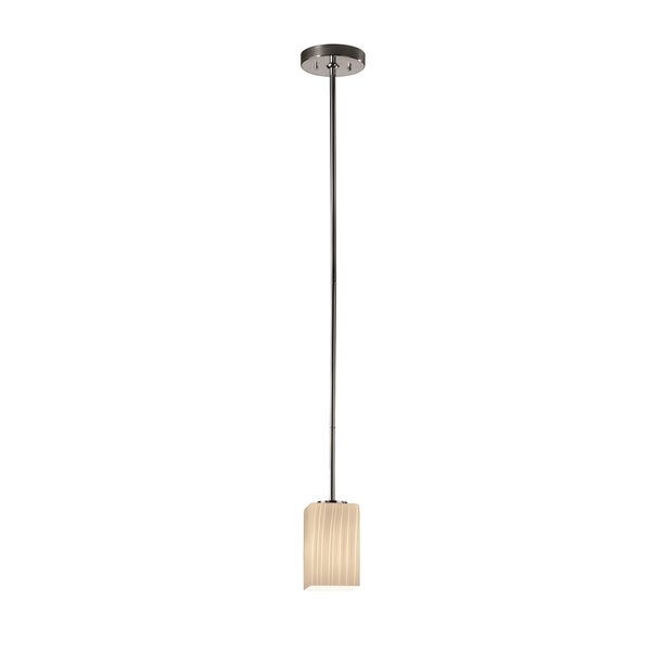 Justice Design Group Fusion Small Chrome Pendant with Black Cord