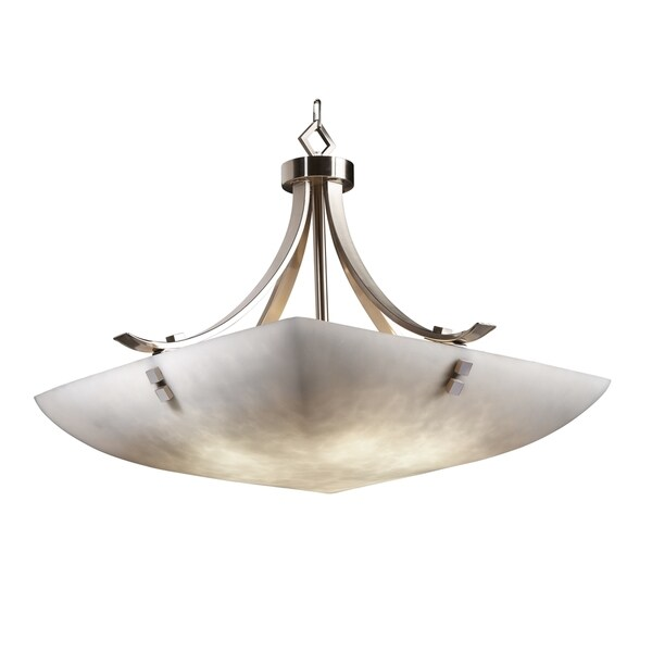 Justice Design Group Clouds 6-light Flat Bars Square Finial Pendant