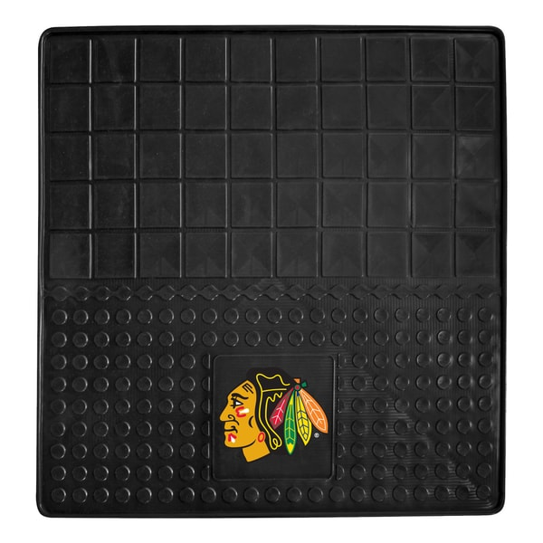 Fanmats Chicago Blackhawks Black Vinyl Heavy Duty Cargo Mat