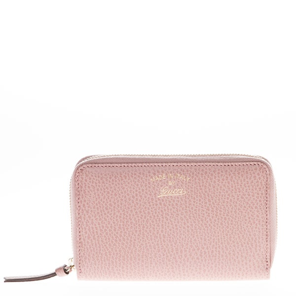 Gucci Swing Leather Pink Zip Around Wallet