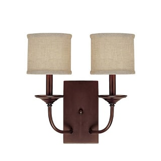 Capital Lighting Loft Collection 2-light Burnished Bronze Wall Sconce