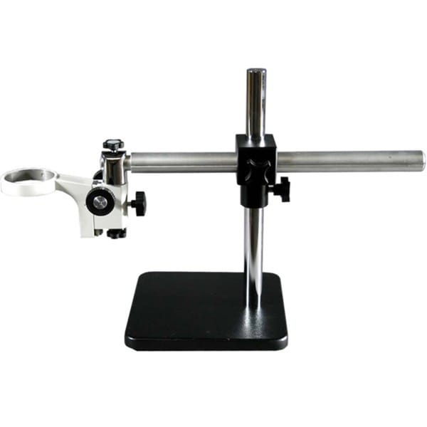 Solid Aluminum Single-arm Microscope Boom Stand For Stereo with 76mm Pillar Rack