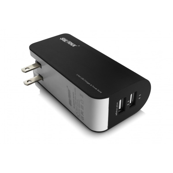 SHARKK 5000mAh Dual-USB Portable Backup Battery/Power Bank/Wall Plug Charger