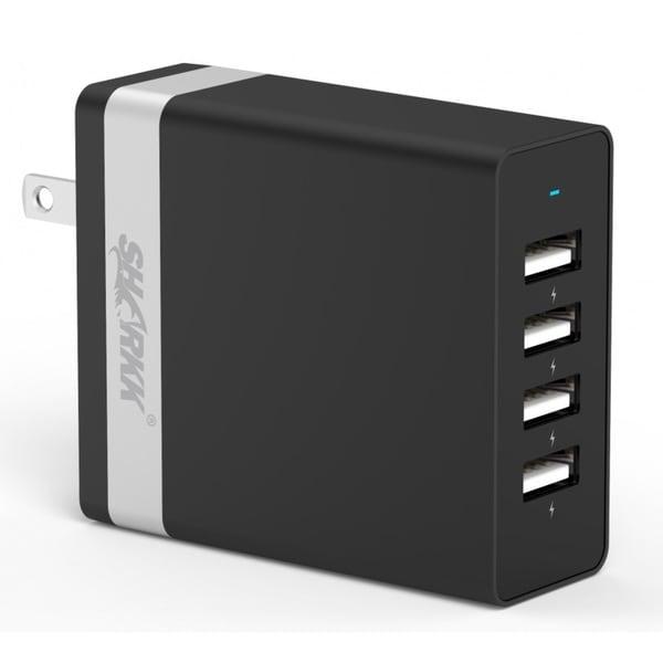 SHARKK 36W 4 USB Ports High Speed Wall Plug Charger / Travel Adapter