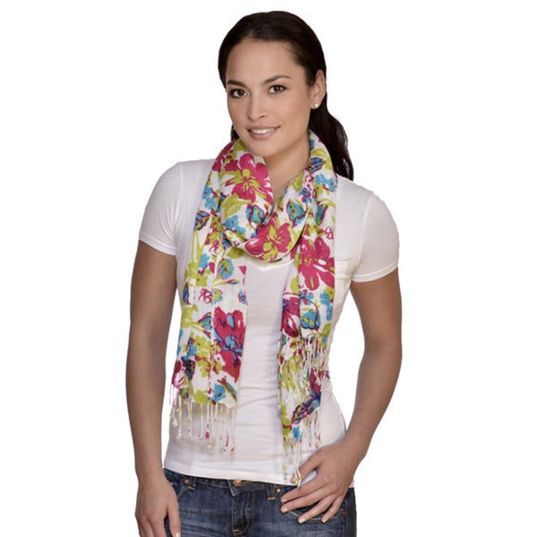 Amtal Floral Bright Multicolored Scarf