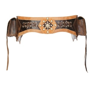 Texicana Chic Dark Brown Genuine Leather Fanny Pack/ Waist Pack