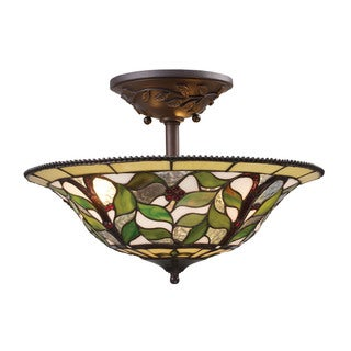 Latham 3-light Semi-flush in Tiffany Bronze with Highlight
