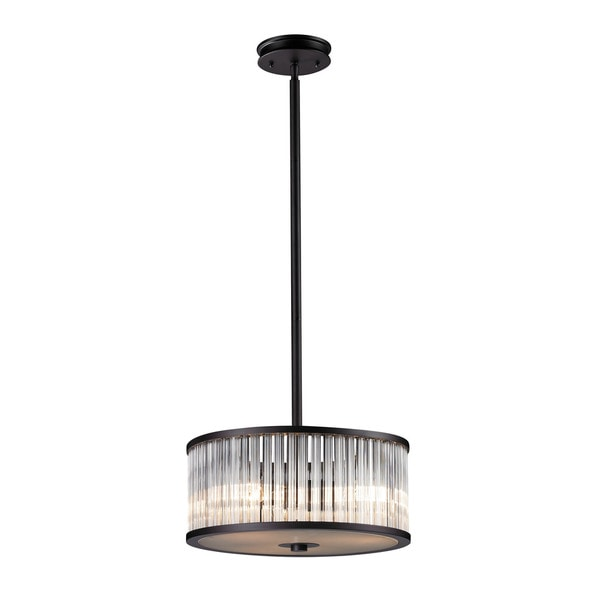 Braxton 3-light Pendant in Aged Bronze