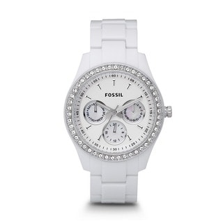 Fossil Stella White Dial Women's Quartz Watch ES1967