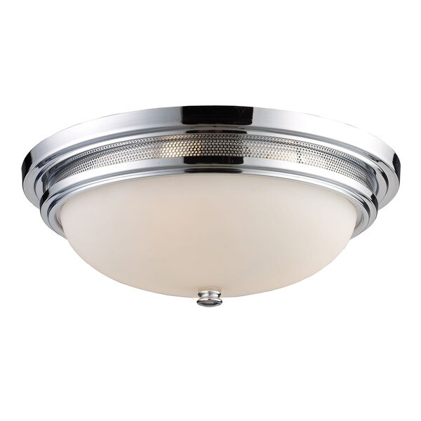 Flush Mount 3 Lights in Polished Chrome