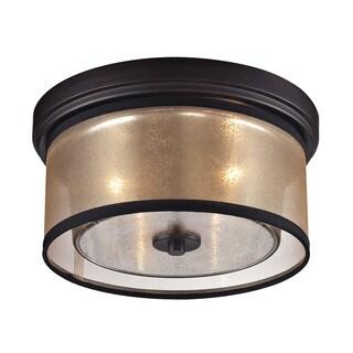 Diffusion 2-light Flush Mount in Oil Rubbed Bronze