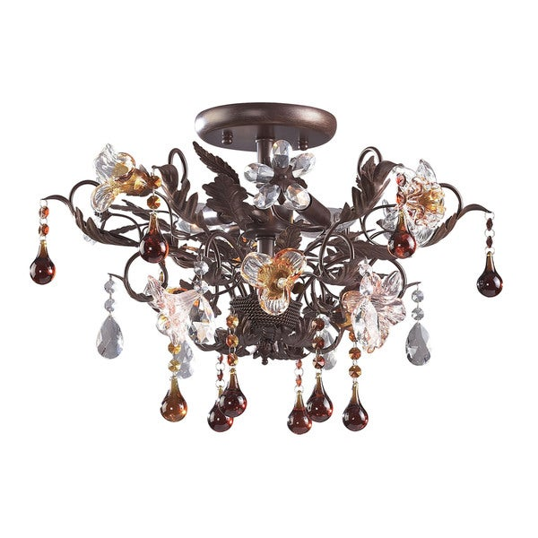 Cristallo Fiore3-light Semi Flush