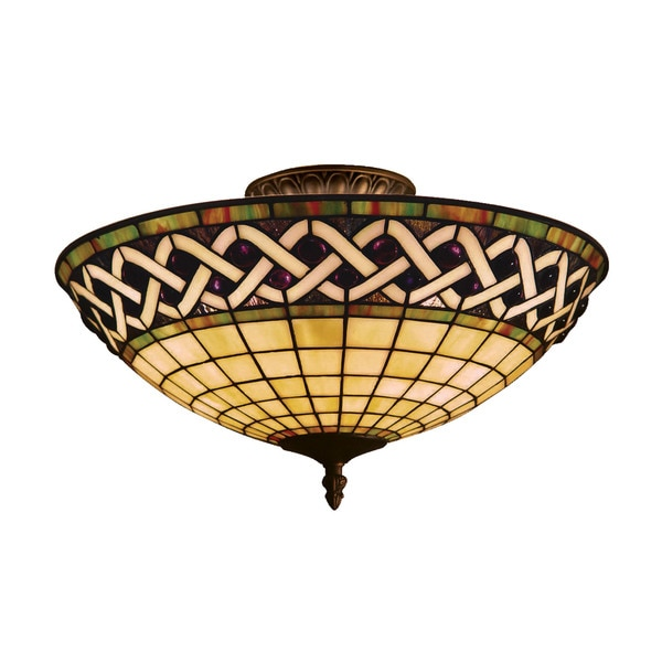 Angel Wing 3-light Semi-flush in Classic Bronze