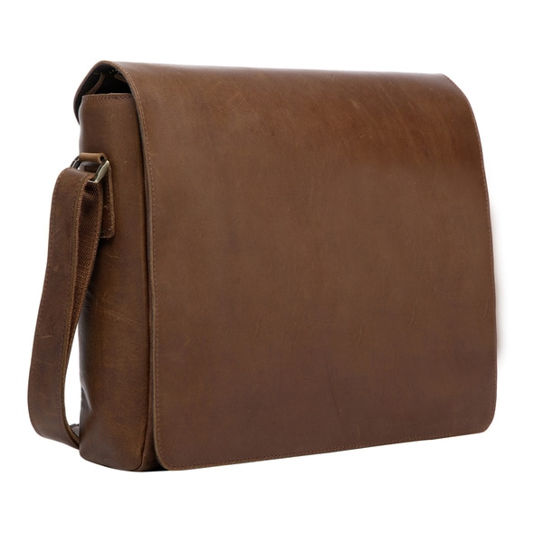Original Brown Full Grain Leather Messenger Bag