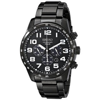 Seiko Men's SSC231 Stainless Steel Solar Chronograph Watch