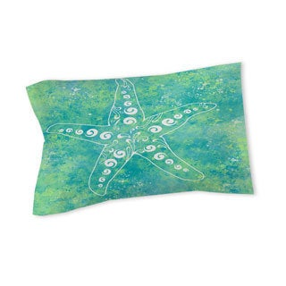Thumbprintz Sponge Paint Starfish Sham