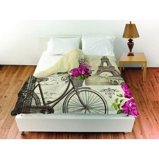 Thumbprintz Springtime in Paris Bicycle Duvet Cover