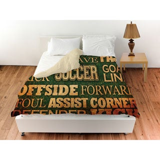 Thumbprintz Soccer Words Duvet Cover