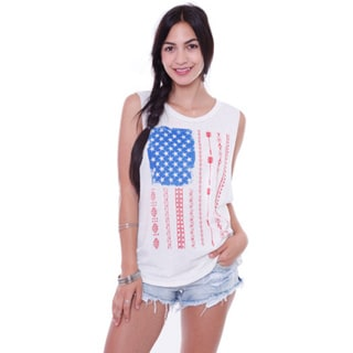Juniors' American Flag Tank Top
