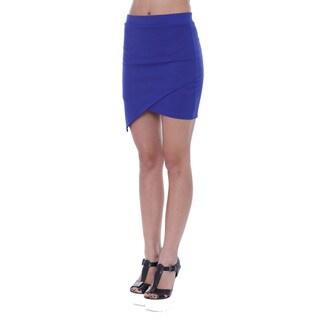 Juniors' Asymmetrical Royal Blue Mini Skirt
