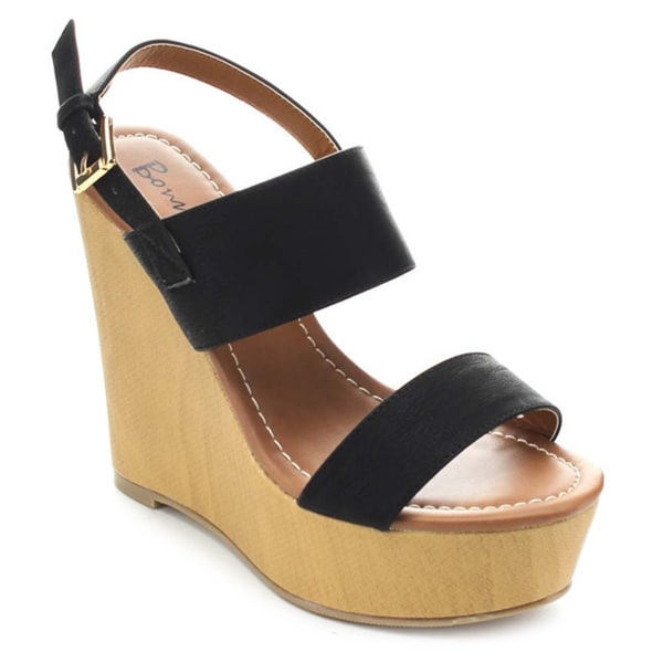 Bonnibel ORIA-1 Women's Sling Back Platform Wedge