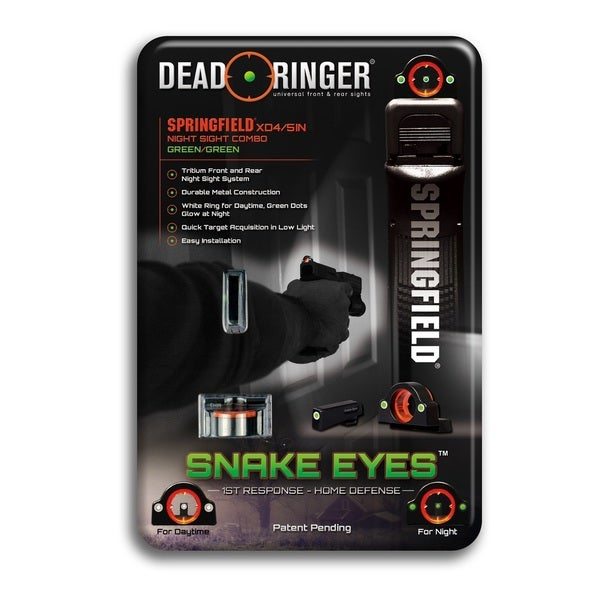 Dead Ringer S-PXD3: Springfield XD4 or 5IN Green-Green Sight