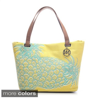 Emilie M. Aimee Canvas Pineapple Beach Tote