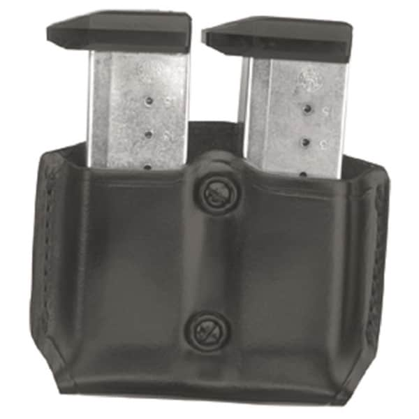 GandG Black Double Mag Case with Belt Loops