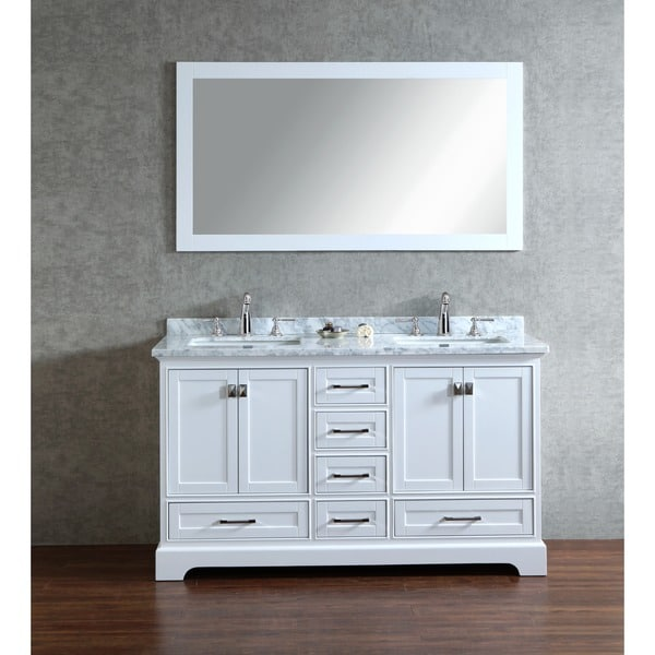 Cool Bathroom Vanities White Finish Finish Traditional 60 Inch Bathroom