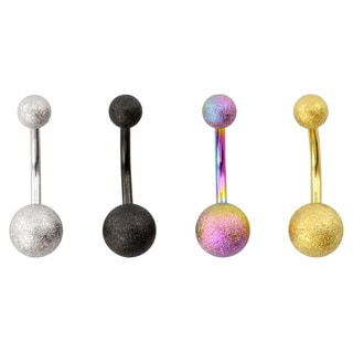 Supreme Jewelry Matte Glitter Belly Rings (Set of 4)