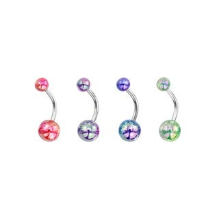 Supreme Jewelry Iridescent Cheetah Printed Belly Ring (Set of 4)